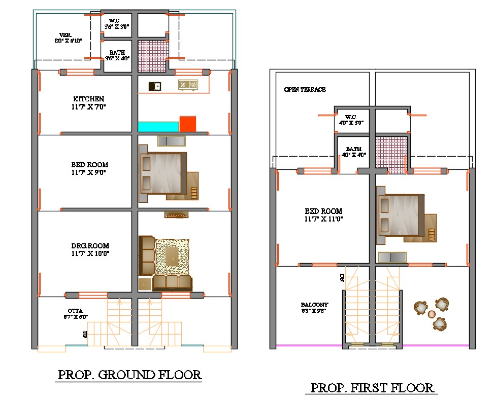 Row House Layout Plan
