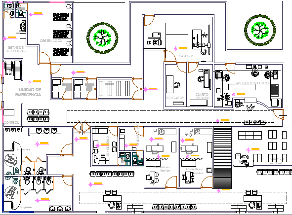 Rural Clinic Architecture Layout Structure Details dwg ...