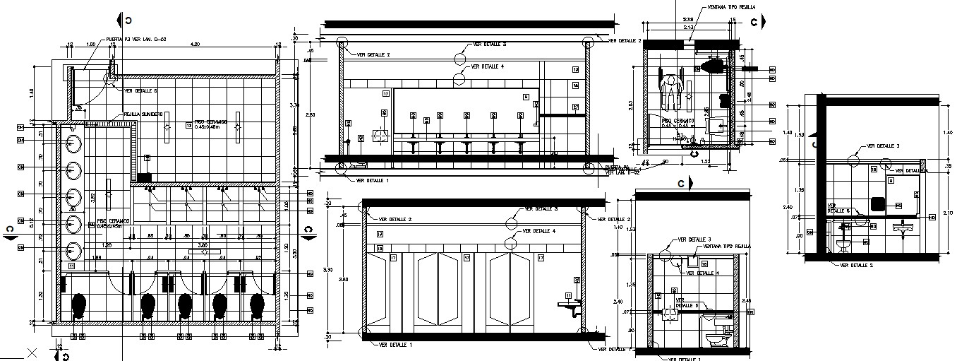 Sanitary design in AutoCAD file