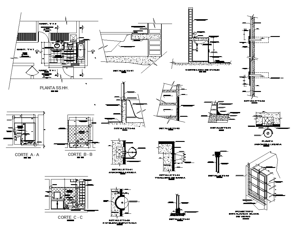 Sanitary toilet and bathroom structure 2d view layout file in autocad format