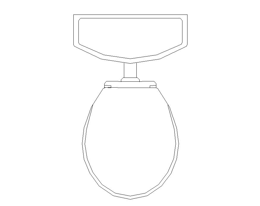 Sanitary toilet detail structure 2d view CAD block autocad file