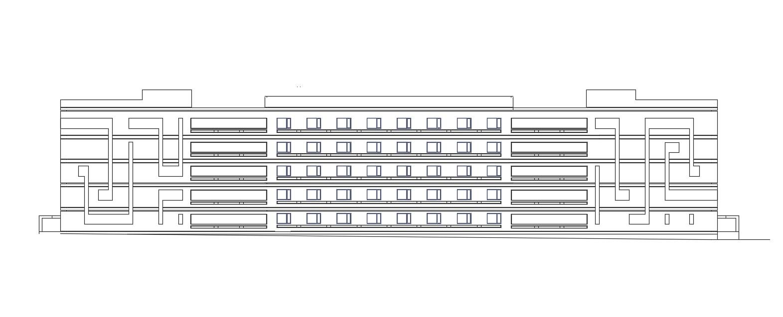 School Building Elevation Design AutoCAD File