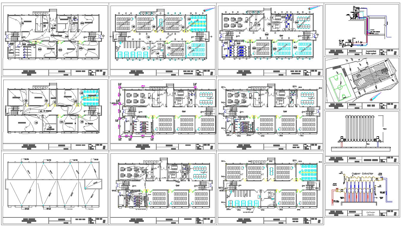 School architecture master plan and detail