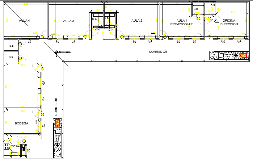 School for Special Children Design and Structure Details dwg file