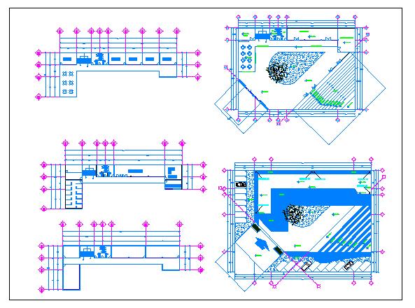 School of arts landscaping details dwg file