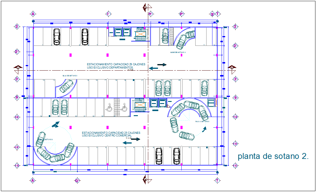 Second floor basement plan for tower dwg file