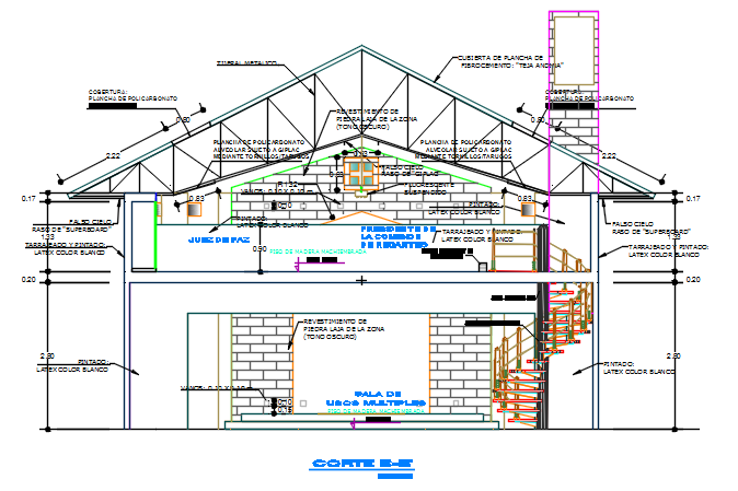 Section A-A' detail dwg file