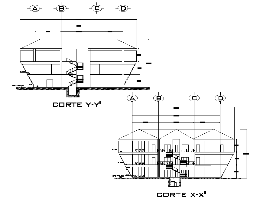Section Commercial square diamond plan autocad file