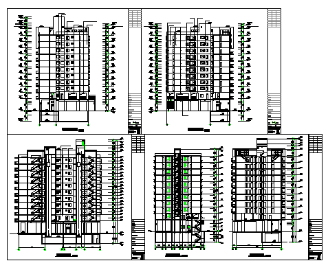 Section design drawing of Flat design drawing