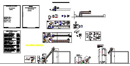 Section design drawing of elevator conveyor  design drawing