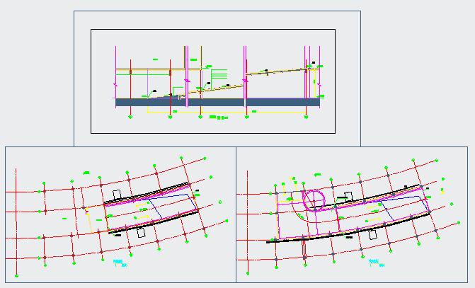 Section detail drawing of Car ramp detail design