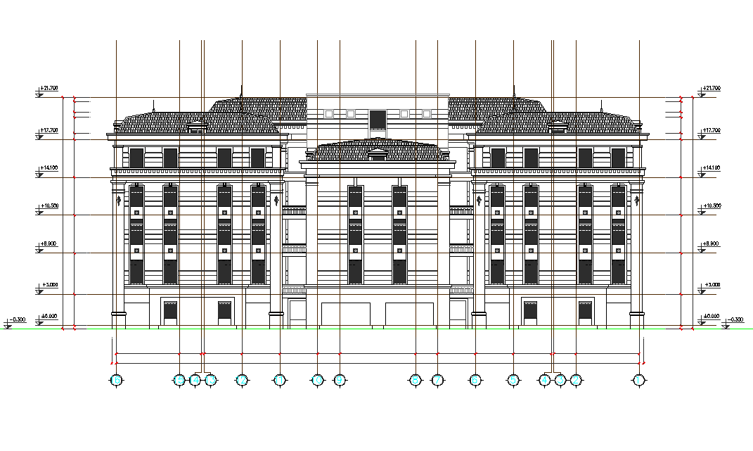 Section hotel plan detail