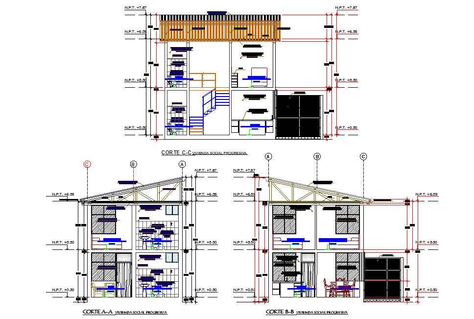Section housing plan layout file