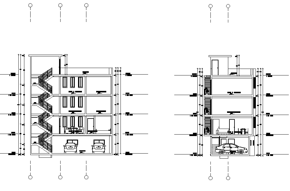 Section living place autocad file