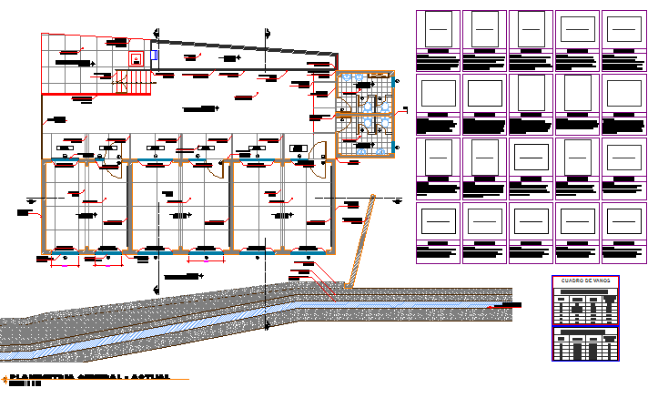 Sectional detailing layout