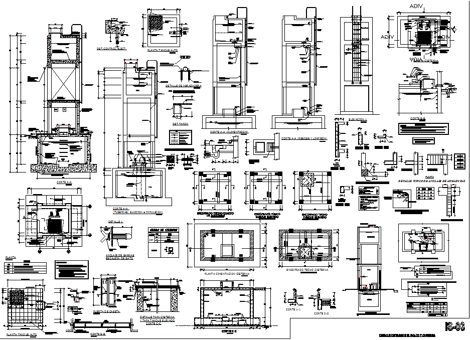 Sectional details in auto cad format