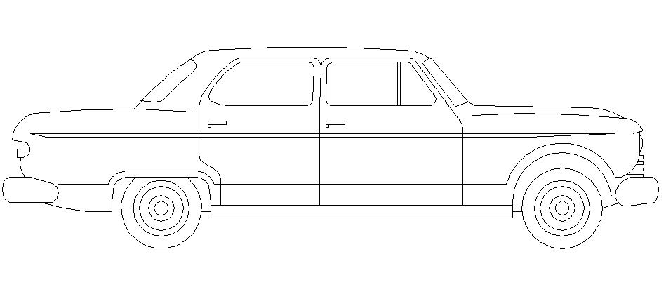 Side elevation design of car