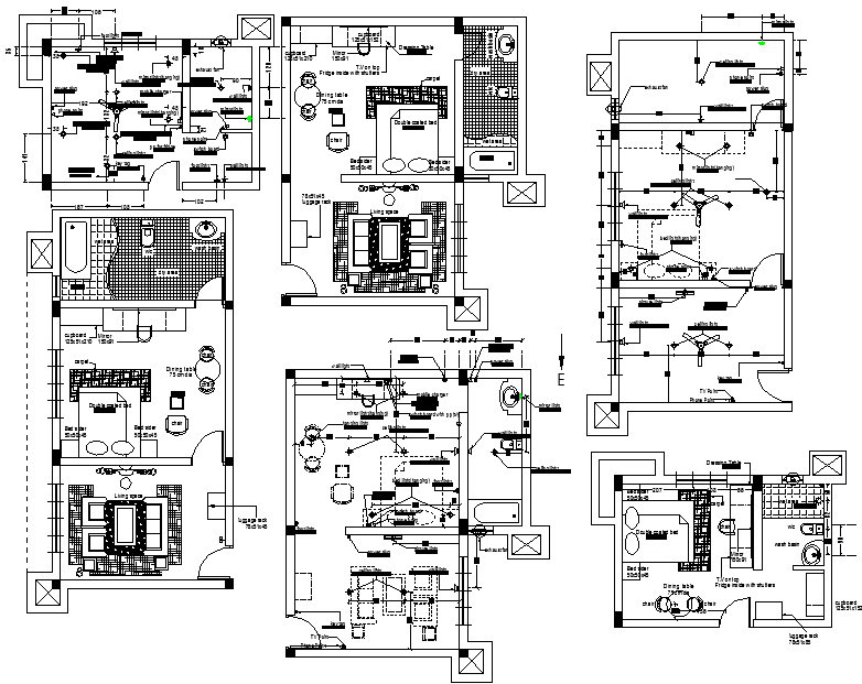 Simple House Lay-out With all detail