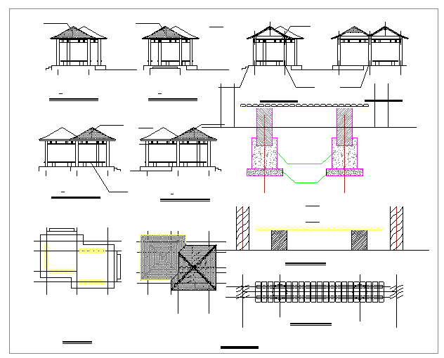 Simple Residential House Cad Drawing