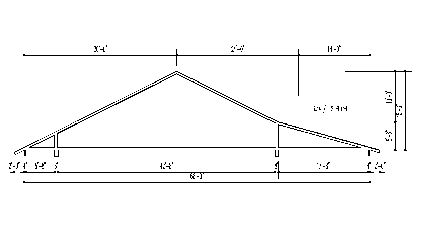 Simple Slop Roof Block Detail