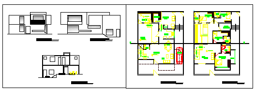 Single family home 4 bed rooms design drawing