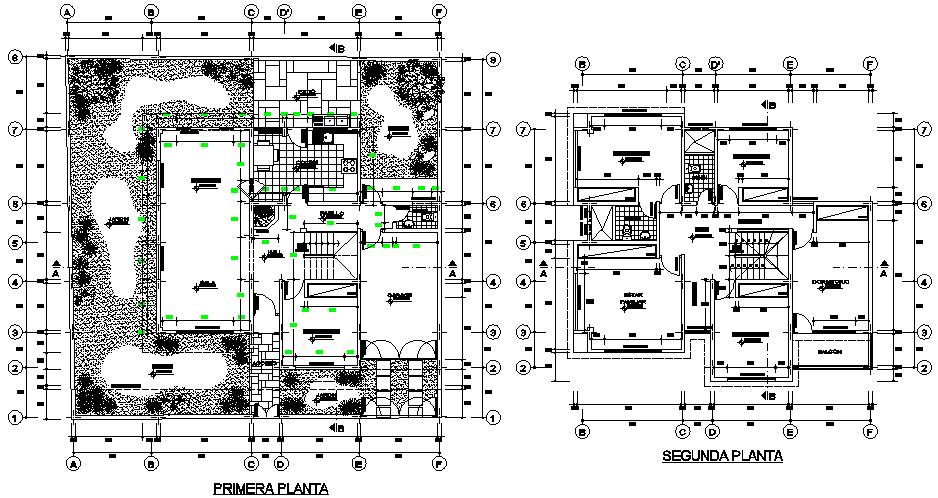 Single family housing 2 storeys layout plan