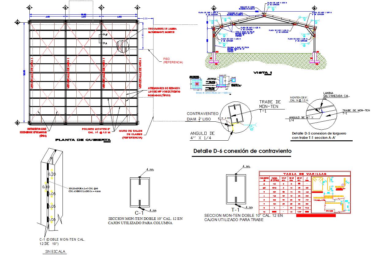 Sitting area pergola roof design and detail