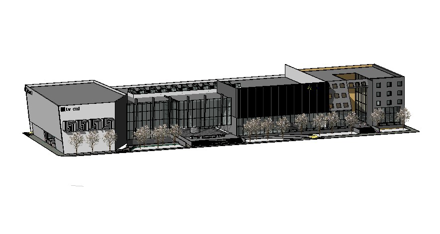 Sketchup file of the hotel with interior and exterior details