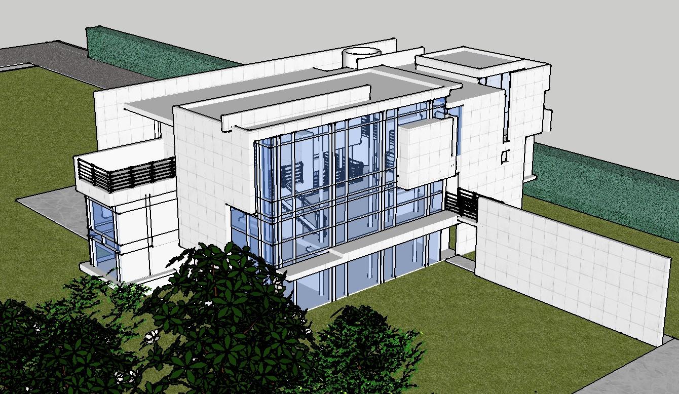 Contemporary Villa Design SKP file