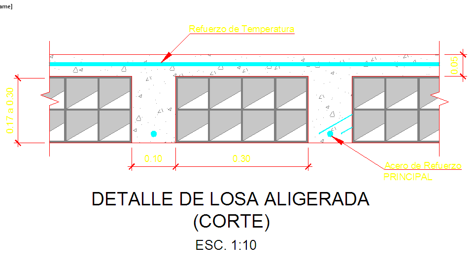 Concrete slab detail drawing, Slab Detail in DWG File