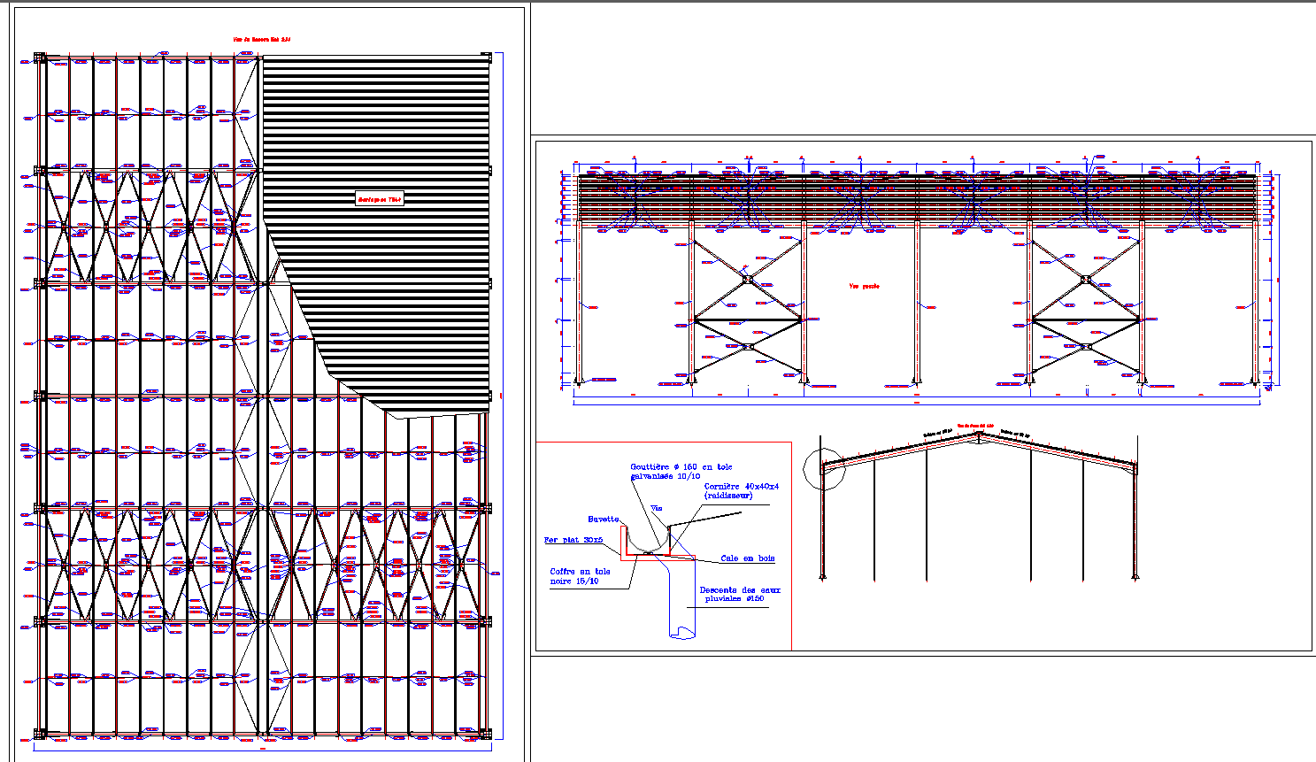 Slab structure detail drawing in cad dwg files