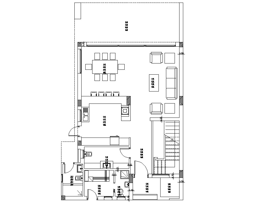 Small house plan CAD drawing download