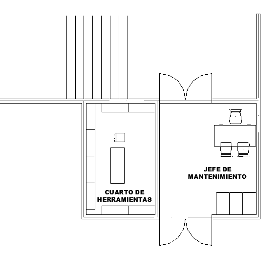 Small office plan autocad file