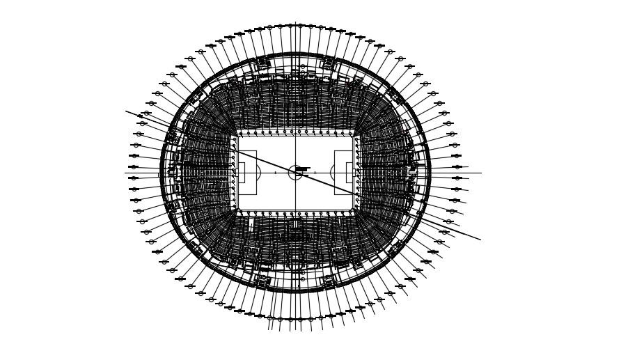 Stadium Plan In AutoCAD File