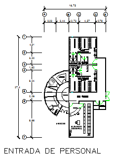 Staff Entry layout of Executive project prevention clinic health design drawing