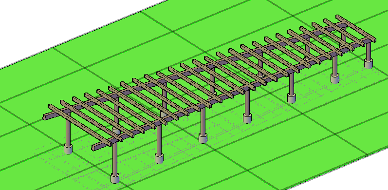 Stair 3D elevation view detail dwg file