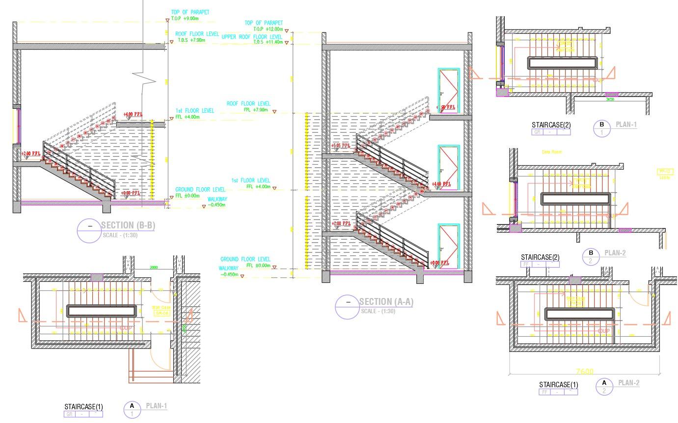 Staircase Plan dwg file