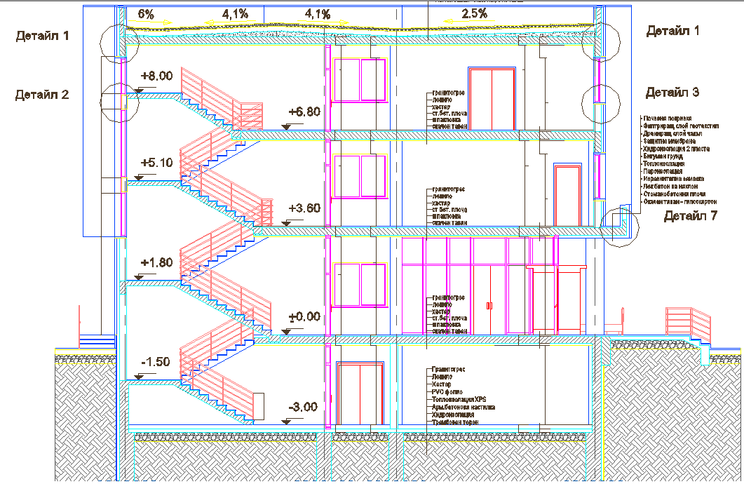 Staircase design dwg file