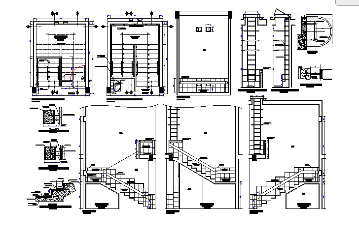 Stairs Details dwg file