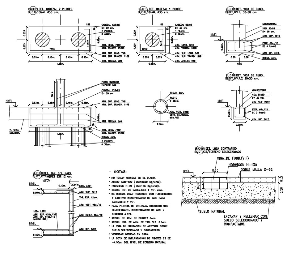 Steel Column and Beam CAD Drawing