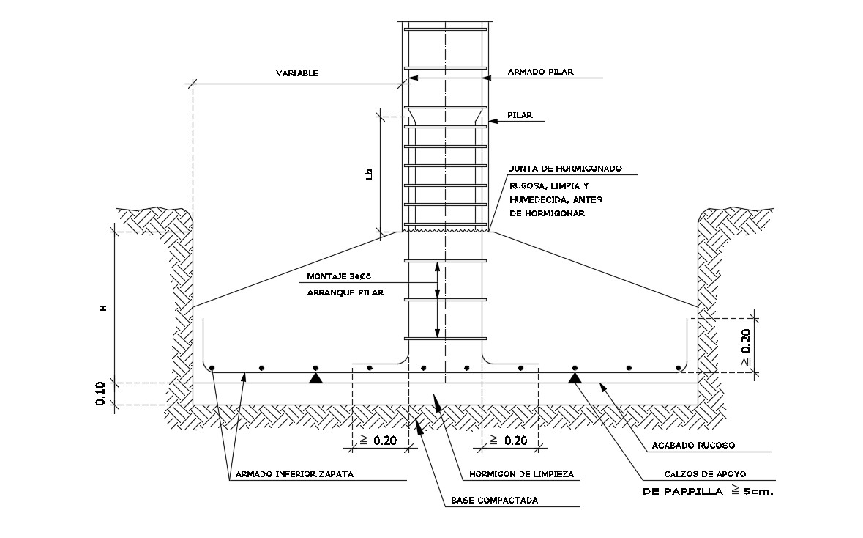 Steel Footing Detail In AutoCAD File