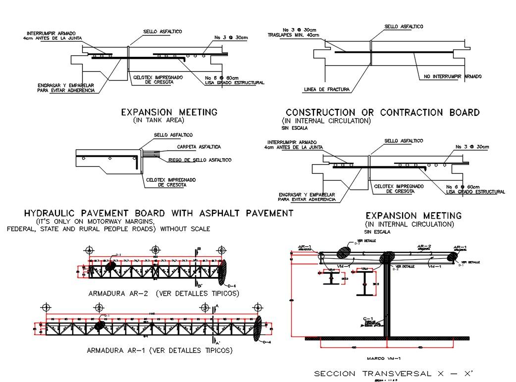 Steel Truss Roof Section Plan