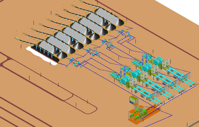 Steel crushing and grinding plant 3 d detail