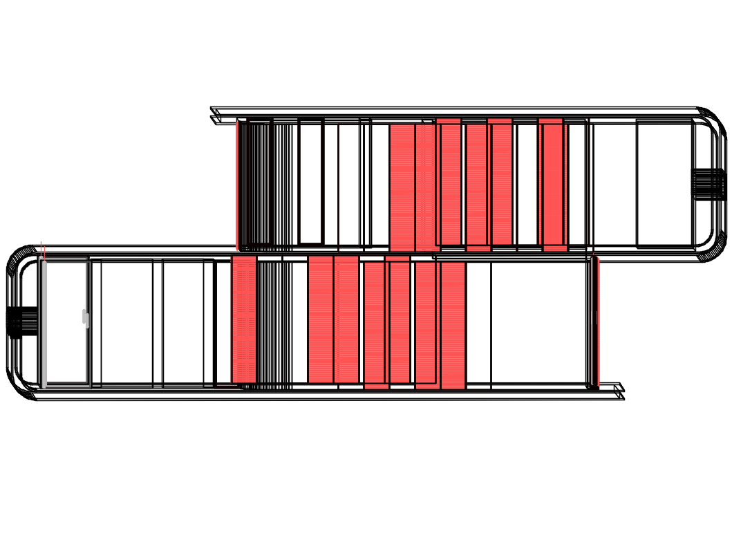 Steel staircases 3d design cad drawing details dwg file