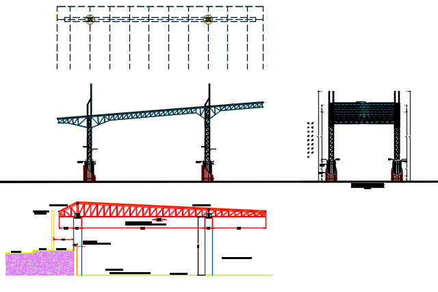 Steel structural Section detail dwg file