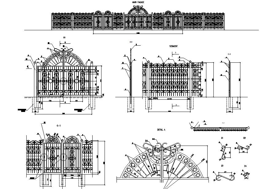 Street fences and gates design