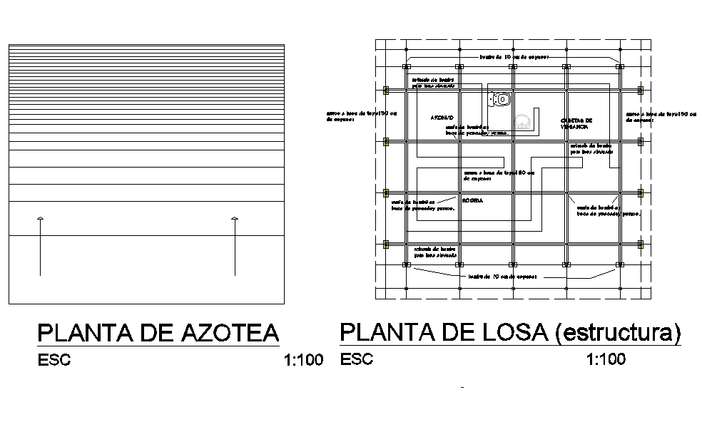 Structural beam plan autocad file