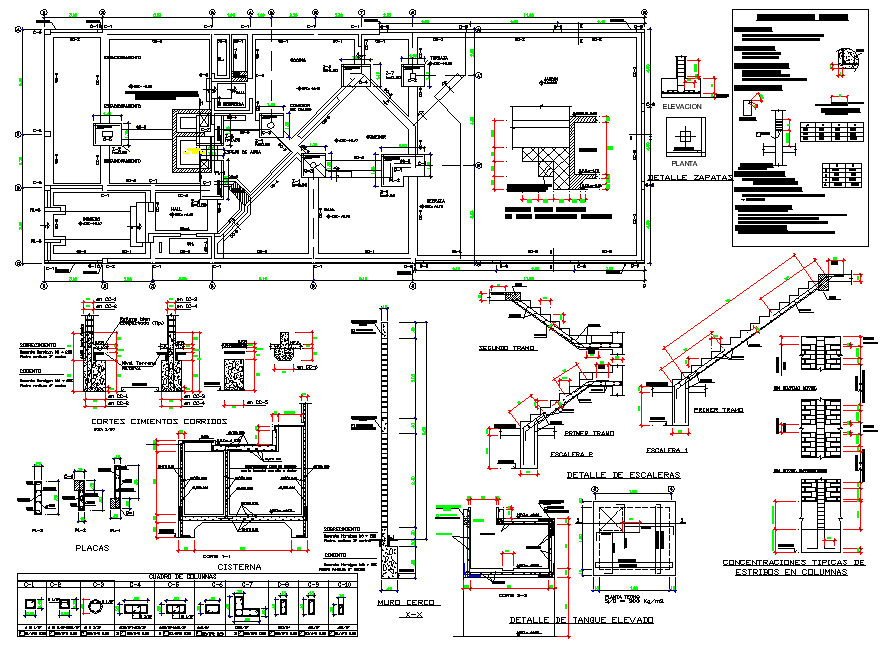 Structural building section plan autocad file