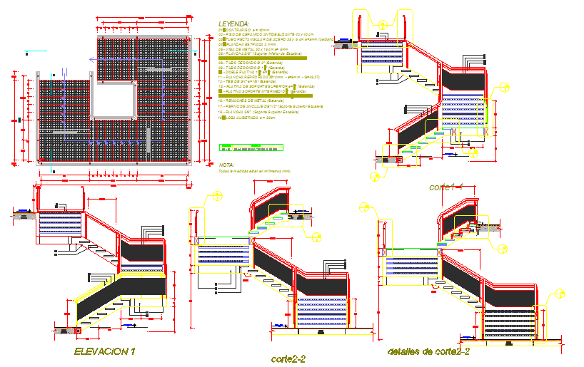 Structural staircase detail drawing