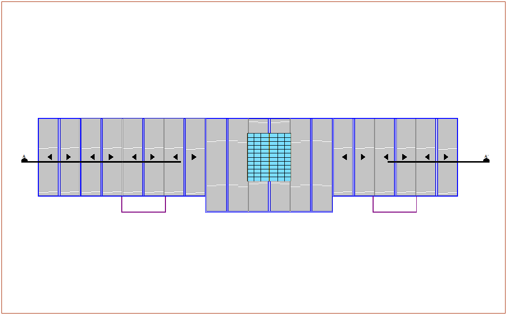 Structural view of super market ceiling plan dwg file